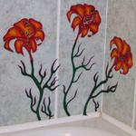 Windowcolor flower on tiles