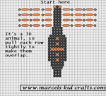free bead animal (spider) pattern