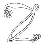 celtic font z