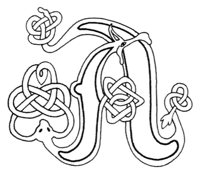 celtic alphabet coloring pages - photo#4