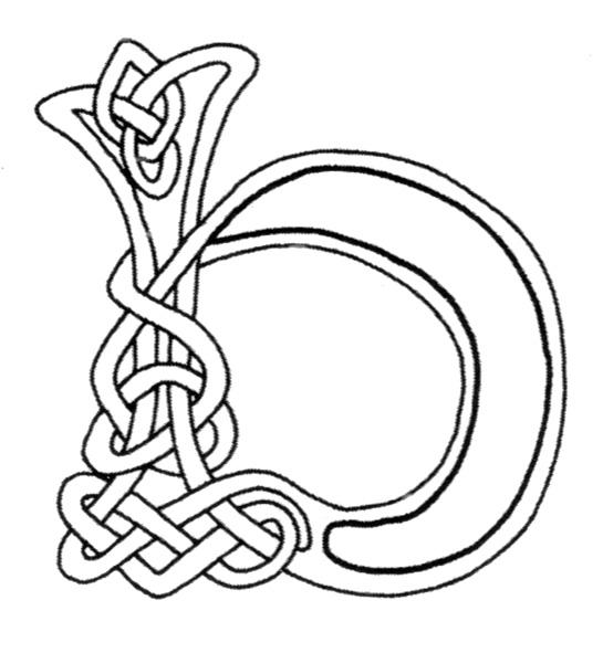 celtic alphabet coloring pages - photo#28