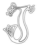 celtic font j