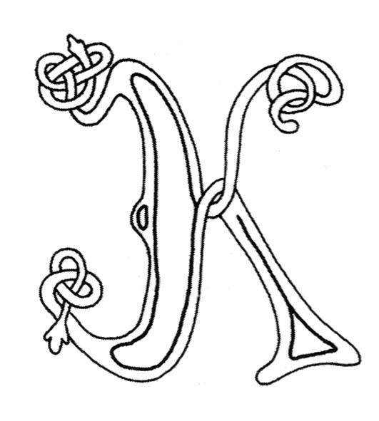 celtic alphabet coloring pages - photo#29