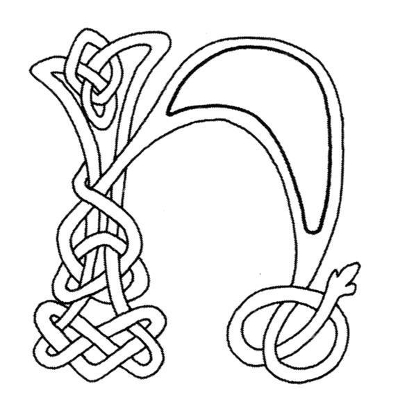 celtic alphabet coloring pages - photo#7