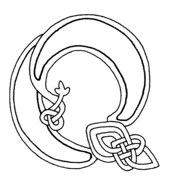 celtic alphabet coloring pages - photo#21