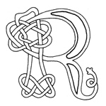 celtic font r