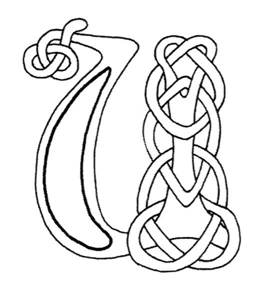 celtic alphabet coloring pages - photo#5