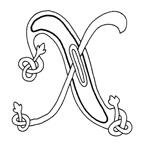 celtic font x
