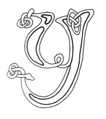 celtic font y