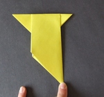 easy origami bird making