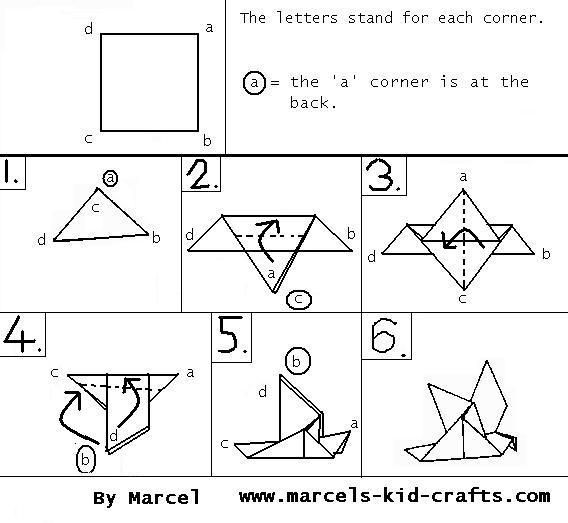How to make a Paper Bird: Easy Origami Paper Bird Instructions   523x568