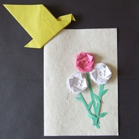 mothers day card origami