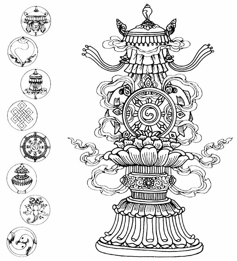 noble eight symbols of buddhism