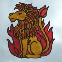 zodiac lion picture made by windowcolor